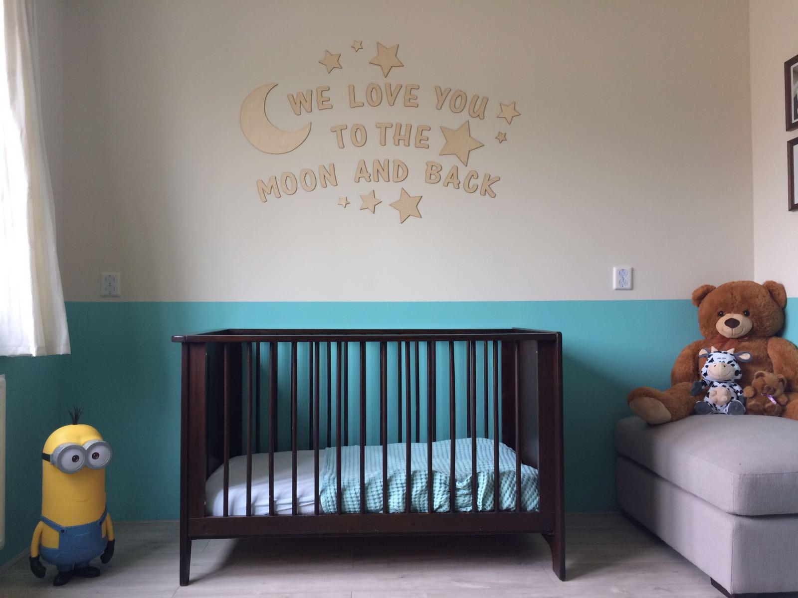 Muurdecoratie kinderkamer houtenlabel for Muurdecoratie babykamer