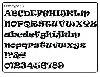 Lettertype 13