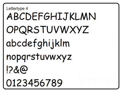 Lettertype 4