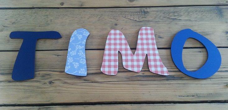 Letters met plakfolie