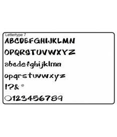Letters 27 stuks