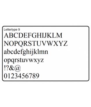 Letter M, 70 stuks