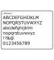 Letters type 5, 34 stuks