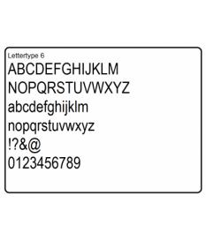 Cijfers mdflakboard type 6