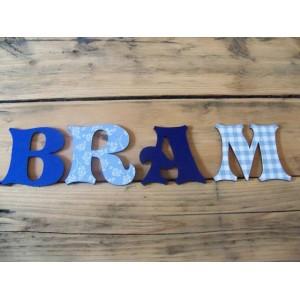 Deco letter motief in hoofdletter of kleine letter