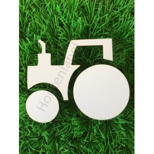 Houten tractor figuur