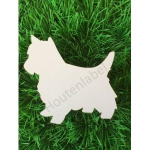 Houten hond Westie
