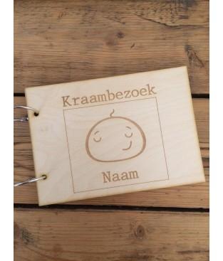 Gastenboek-kraambezoekboek babyhoofd