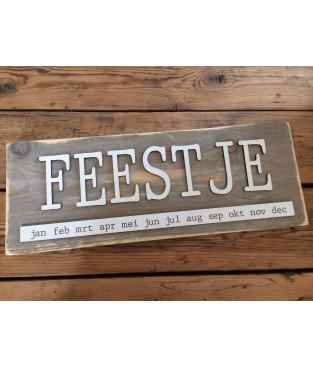 Verjaardagskalender steigerhout 'FEEST'