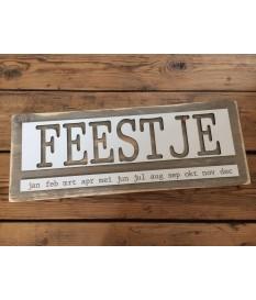 Verjaardagskalender steigerhout 'FEEST' malvorm