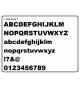 Houten letter Lettertype 1