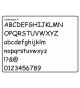 Houten letter Lettertype 4
