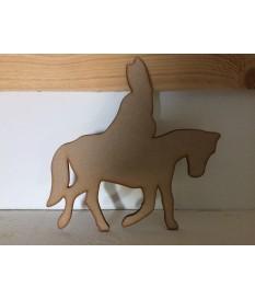 Paard met Sint figuur hout/mdf