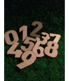 Houten / mdf cijfer type 8