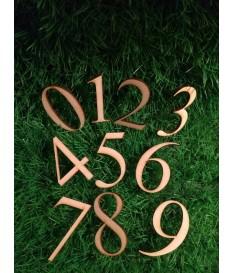 Houten / mdf cijfer type 9