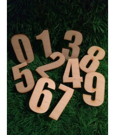 Houten / mdf cijfer type 10