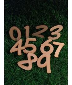 Houten / mdf cijfer type 11