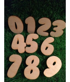 Houten / mdf cijfer type 14