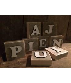 Houten letterplankje