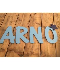 Deco letter uni kleur in hoofdletter