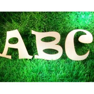 Houten letter Lettertype 13