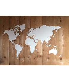 Wereldkaart hout of mdf