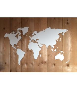 Spiksplinternieuw Houten wereldkaart YI-33