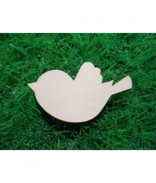 Vogelfiguren met gravure