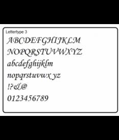 Triplex Letters type 3 en 9 , 28 stuks
