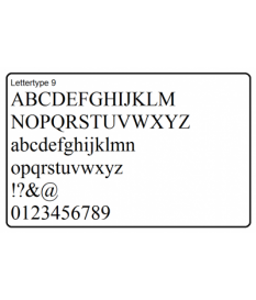 Letters en cijfers - 44x 5cm., - 8x 10 cm. - 8x cijfers 5 cm.