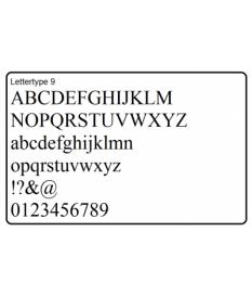 Letters en cijfers, type 9