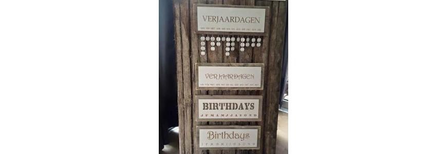 Verjaardagskalender steigerhout