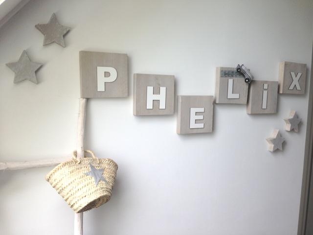 letters op kinderkamer