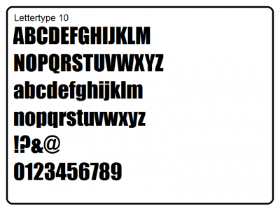 Lettertype 10