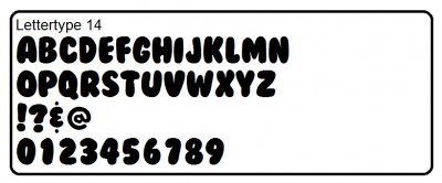 Lettertype 14
