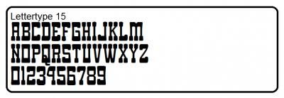 Lettertype 15
