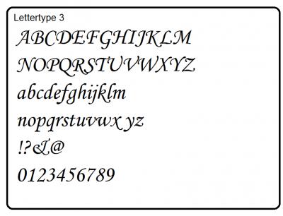 Lettertype 3