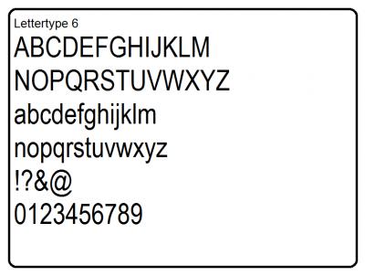 Lettertype 6